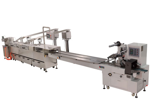 BISCUIT SANDWICHING CONNECTED HIGH SPEED PACKING MACHINE