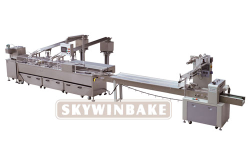HY-BL TWO ROWS (2+1) BISCUIT SANDWICHING CONNECTED PACKING MACHINE