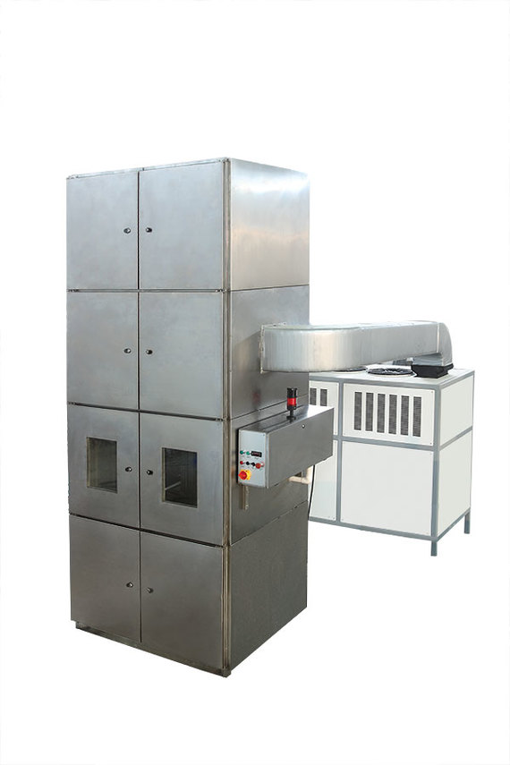 Vertical cooling cabinet
