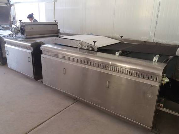 Enter oven machine with oven drum
