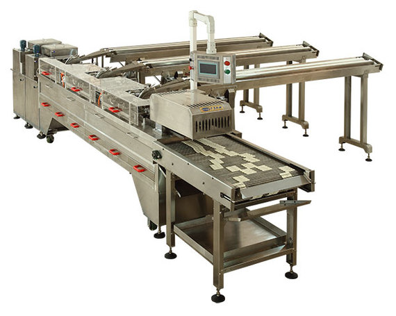 New Two lanes (3+2) Sandwiching machine with Row Multiplier