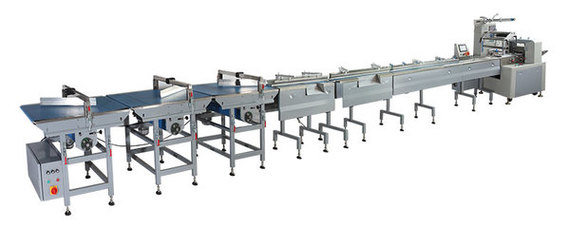 Auto Cookies feeding and packing line