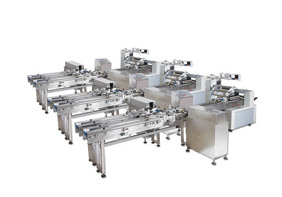 Two pushes Wafer feeding and packing line
